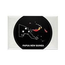 Flag Map of Papua New Guinea Rectangle Magnet