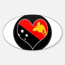 I love Papua New Guinea Flag Oval Decal