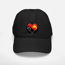 I love Papua New Guinea Flag Baseball Hat