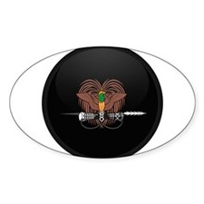 Coat of Arms of Papua New Gui Oval Decal