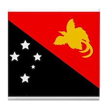 Papua New Guinea Flag Tile Coaster