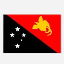 Papua New Guinea Flag Postcards (Package of 8)