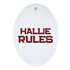 hallie rules Oval Ornament