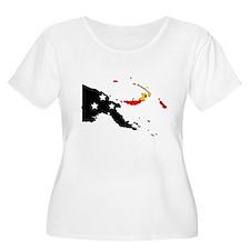 Papua New Guinea Flag Map T-Shirt