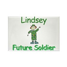 Lindsey - Future Soldier Rectangle Magnet