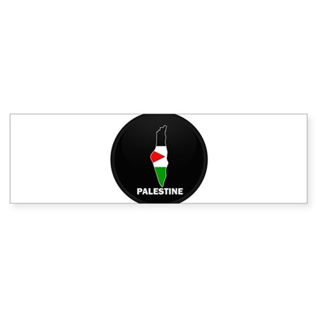 Flag Map of Palestine Bumper Sticker