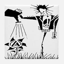 Funny Punk rock anarchy Tile Coaster