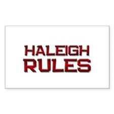 haleigh rules Rectangle Decal