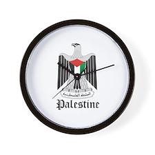 Palestinian Coat of Arms Seal Wall Clock
