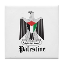 Palestinian Coat of Arms Seal Tile Coaster