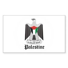 Palestinian Coat of Arms Seal Rectangle Decal