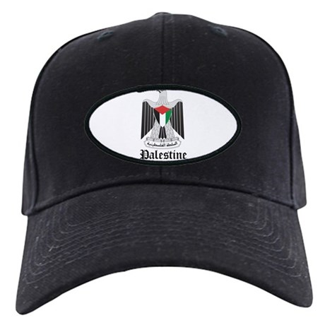 Palestinian Coat of Arms Seal Black Cap