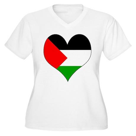 I Love Palestine Women's Plus Size V-Neck T-Shirt