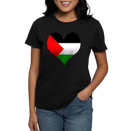 I Love Palestine Women's Dark T-Shirt