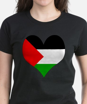 I Love Palestine Women's Dark T-Shirt