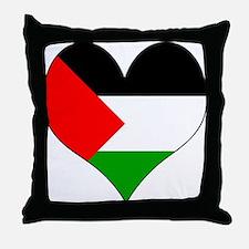 I Love Palestine Throw Pillow