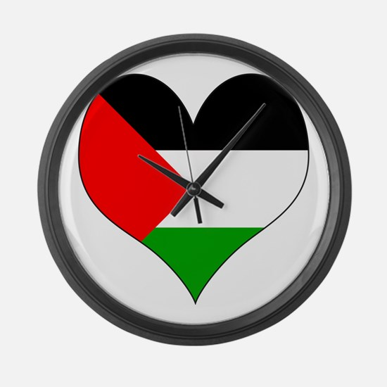 I Love Palestine Large Wall Clock