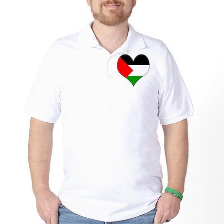 I Love Palestine Golf Shirt