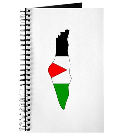 Palestine Flag Map Journal