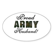 Proud Army Husband Oval Decal