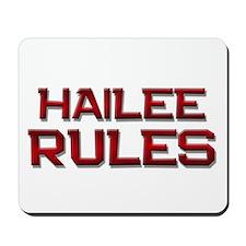 hailee rules Mousepad