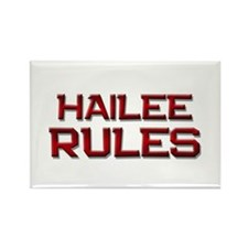 hailee rules Rectangle Magnet