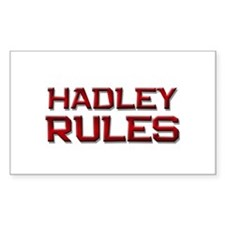 hadley rules Rectangle Decal