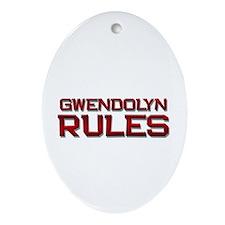 gwendolyn rules Oval Ornament