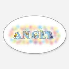 """""""Angel"""" with Mice Oval Decal"""