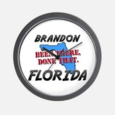 brandon florida - been there, done that Wall Clock
