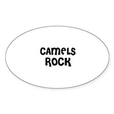 CAMELS ROCK Oval Decal