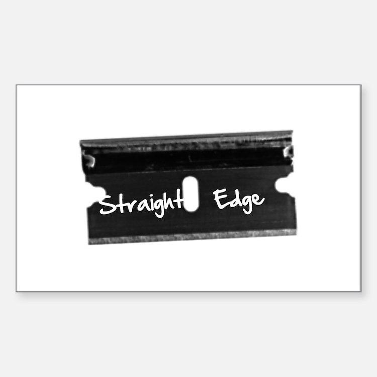 Straight Edge -Razor Rectangle Decal