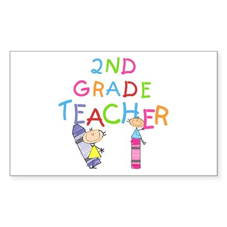 2nd Grade Teacher Rectangle Sticker 10 pk)