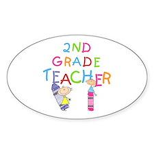 2nd Grade Teacher Oval Decal