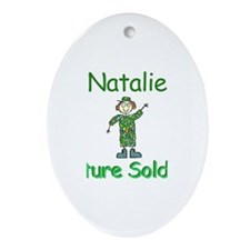 Natalie - Future Soldier Oval Ornament