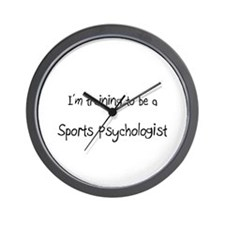 I'm training to be a Sports Psychologist Wall Cloc