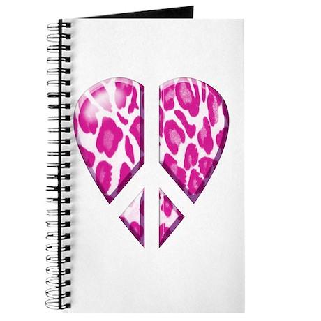 Leopard peace heart Journal