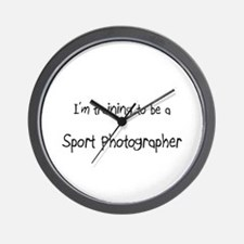 I'm training to be a Sport Photographer Wall Clock