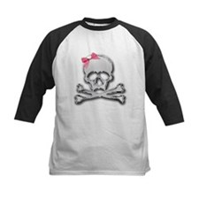 Chrome skull with bow Tee