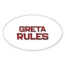 greta rules Oval Decal