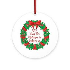 Wreath Baking Christmas Ornament (Round)