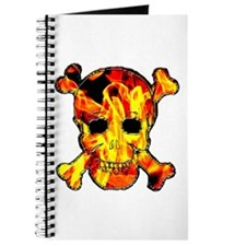Skull with fire Journal