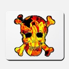 Skull with fire Mousepad