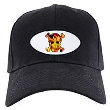 Skull with fire Baseball Hat