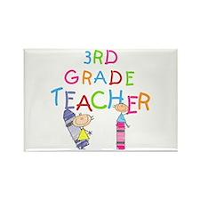 Crayons 3rd Grade Rectangle Magnet