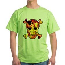 Skull with fire T-Shirt
