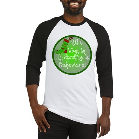 Stocking Baking Christmas Baseball Jersey