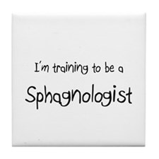 I'm training to be a Sphagnologist Tile Coaster