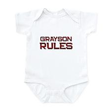 grayson rules Infant Bodysuit