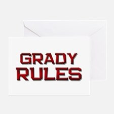 grady rules Greeting Card